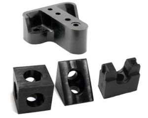 CNC Machining Solid Plastic Mount pictures & photos