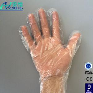 Cheap Plastic/Poly/Polyethylene Clear/Transparent Disposable Vinyl Gloves pictures & photos