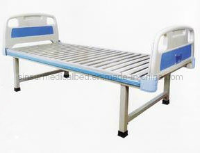 China Supply Cheapest ABS Head/Footboard Flat Hospital Bed pictures & photos