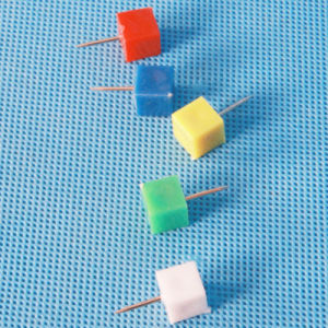 Coloured Plastic Triangular Push Pin Stationery (QX-HP008) 9*20mm pictures & photos