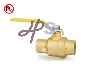 Lead Free Brass Solder Ball Valve Cxc with Drain pictures & photos