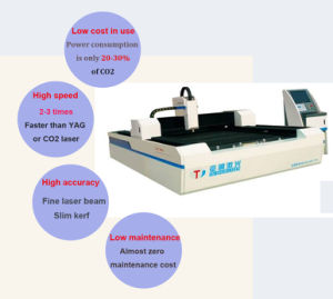Fiber Laser Metal Cutting Machine for Spring Steel, Stainless Steel pictures & photos