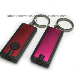 Factory Supply LED Flashing Souvenir Keyring with Logo Printed (3672)