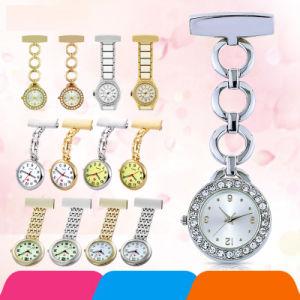 Factory Price Quartz Metal Nurse Watch with Diamonds Nursing Pocket Watch