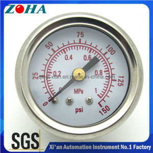 Miniature Double Scale Bottom Connection Shock Resistance Pressure Gauge pictures & photos