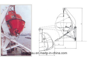 Gravity Rolling Type Boat Davit pictures & photos