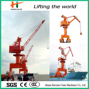 Single Girder Slewing Container Jib Portal Crane pictures & photos