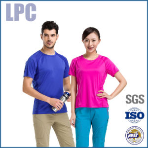 Quick-Drying Dry Fit Outdoor Cheap T-Shirt for Women and Men pictures & photos