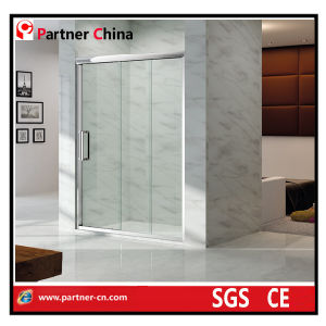 Hotel Shower Enclosure Europe and The United States Fashion Simple Shower Enclosure Glass Shower Enciosure with Stainless Steel Frame (NM6132) pictures & photos