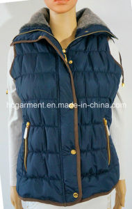 Promotional Warm Winter Cotton Overcoat Padded Waistcoat for Women/Lady pictures & photos
