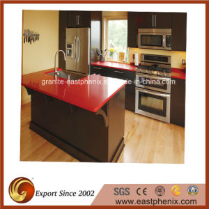 Natural Red Quartz Stone Countertop for Kitchen pictures & photos