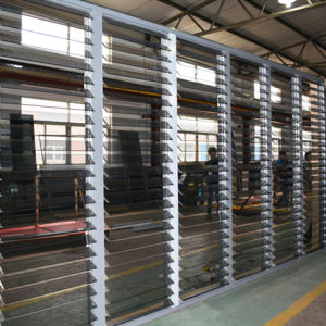 Big Size Good Quality Automatic Control Aluminium Glass Shutter Windows K09007 pictures & photos