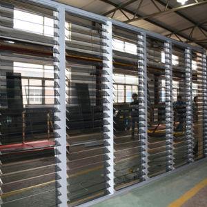 Big Size Good Quality Automatic Control Aluminium Glass Shutter Windows K09007 pictures & photos