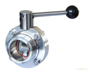 Food Grade Inox Welded Butterfly Valve pictures & photos