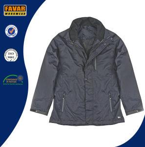 Waterproof Breathable Nylon Winter Padded 2 in 1 Rain Jacket