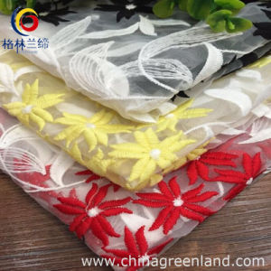 Polyester Micro Fiber Fabric Embroidery for Wedding Dress (GLLML035) pictures & photos