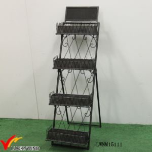 Ladder Style Industrial Metal Folding Display Shelf pictures & photos