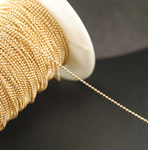 1.2mm Brass Metal Bead Jewelry Ball Chain Nail Art Metallic Chain (TC-1.2mm gold/silver) pictures & photos