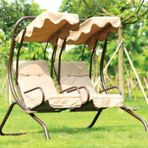 2 Seats Garden Swing Chair with Canopy Wholesale 2016 pictures & photos