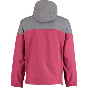 Men Nylon Ripstop Two Colours Combination Hoody Outdoor Jacket pictures & photos