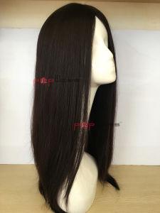 Human Virgin Hair Hand Tied Skin Top Women Scalp Top Wig pictures & photos
