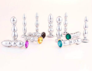 Metal Colored Jewelry Budded Butt Plug Orgasm Anal Sex Toys pictures & photos