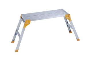 Aluminium Folding Working Platform Ladder by Ce/En131 Certificated pictures & photos