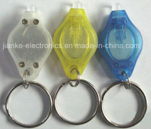 Plastic LED Torch Key Chain with Logo Printed (3032) pictures & photos