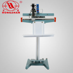 Electric Continuous Pedal Double Sealing Machine Equipment for Packing Bag PE Film Pouch Aluminum Foil and Kraft Paper pictures & photos