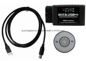 Elm327 WiFi + USB OBD2 Car Diagnostics Scanner Scan Tool pictures & photos
