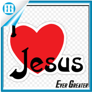 PVC I Love Jesus Sticker Car Sticker and Decals pictures & photos