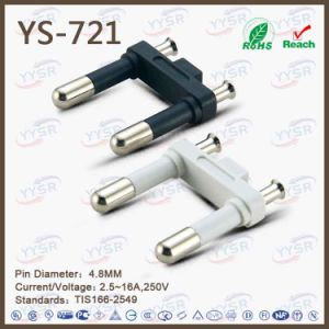 Thailand 2-Core Plug Insert (2 pole plug, electrical adapter round pins) pictures & photos