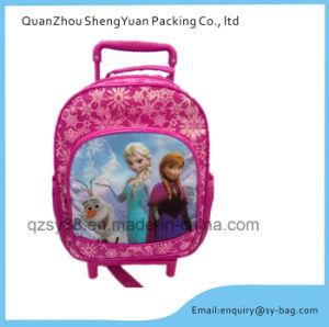 Girls Pretty School Trolley Bag with Cartoon Figurine