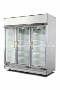 Commercial Equipment Glass Door Display Freezer for Supermarket pictures & photos