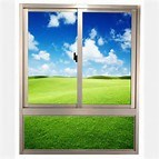 Double Glazing Aluminum / Aluminium Metal Fixed Glass Window