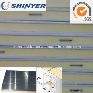 120mm Polyurethane PU Sandwich Panel with 0.8mm Stainless Steel Plate pictures & photos