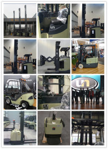 Un Brand 1.5t Double Deep Reach Truck with Triplex 10.0m Mast pictures & photos