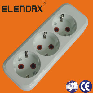 Germany Type 3 Way Power Extension Socket (E8003E) pictures & photos