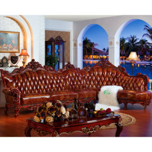 Real Leather Sofa (D812) pictures & photos