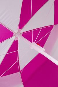 6 FT Beach Umbrella Double Canopy (Pink & White) pictures & photos