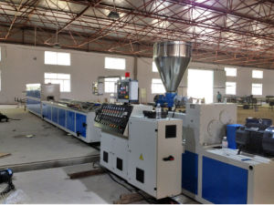 Conical Twin Screws Plastic Extruder for PVC Pipe and Profile Production Line pictures & photos