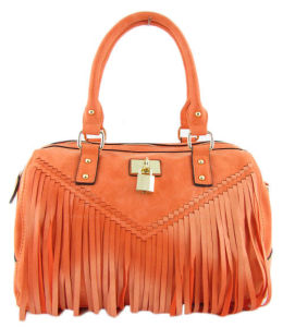 Fashion Leather Handbag Products with All Cover Fringe (LDO-15049) pictures & photos