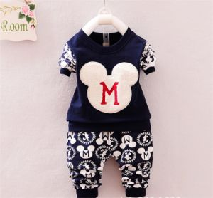 Ks1097 Spring Autumn Baby Boys Sport Suit Set Long Sleeve Children Sets Round Neck Shirt+Pants Kids 2 PCS Clothing Set pictures & photos