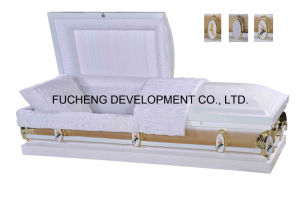 20ga American Style Casket with White Monterey Gold Side Finish pictures & photos
