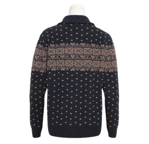 Ladies′ Yak Cardiganlong Sleeve Knitted Sweater with Zipper pictures & photos