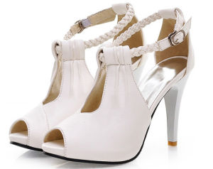 Latest New Style Lady High Heel Sandals pictures & photos