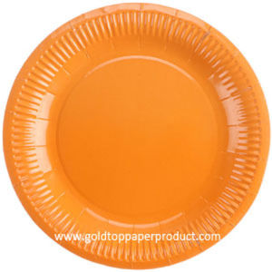 """7"""" Orange Paper Dinner Luncheon Plates Party Supplies pictures & photos"""