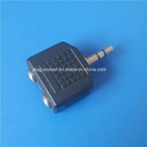 3.5mm/6.3mm Stereo Plug to 2*6.35mm Mono Plug (AV-001) pictures & photos