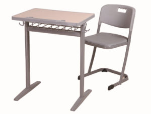 Modern Single Students Desk and Chair for High School pictures & photos