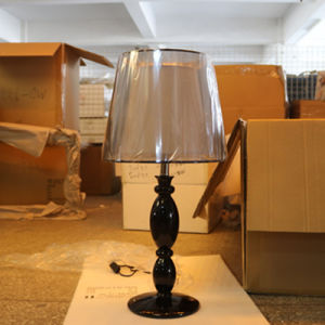 Polished Black Resin Bedside Table Lamp for Hotel Project pictures & photos